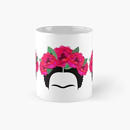 Frida Kahlo Headband And Brows Classic Mug - 11 Ounce For Coffee, Tea, Chocolate Or Latte.