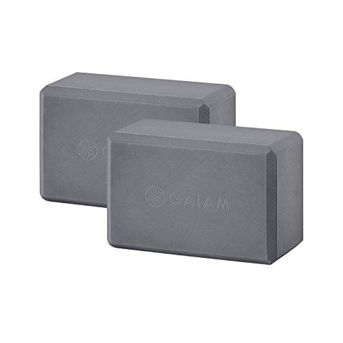 Gaiam Essentials Yoga Block (Set of 2) - Soft Non-Slip Surface for Yoga, or Pilates