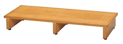 永井興産 木製玄関踏み台90 幅90×奥行35×高さ13.2cm アジャスター付きNK-935