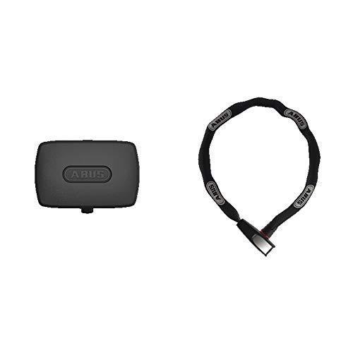 ABUS Alarmbox + Catena 6806K/75 Kettenschloss - Set - Mobile Alarmanlage mit 100 dB lautem Alarm und Fahrradschloss zur Sicherung von Fahrrädern