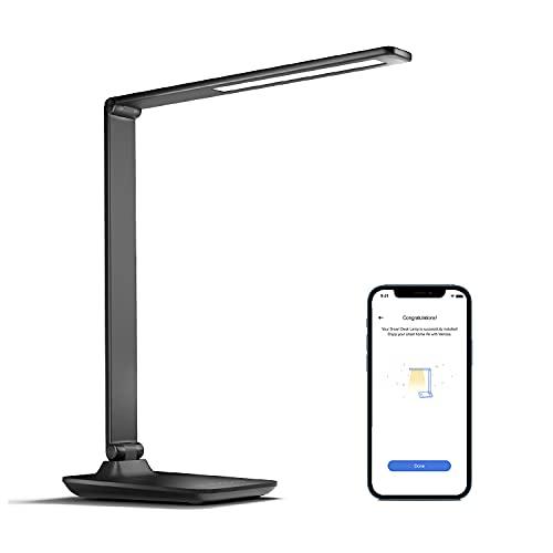Smart Lampada da Tavolo LED Wi-Fi, meross WLAN Lampada da Scrivania 3 Colori e 4 Livelli di Luminosità, Dimmerabile Lampada 10W con Touch Controllo Memoria Compatibile con HomeKit, Alexa, Google Home