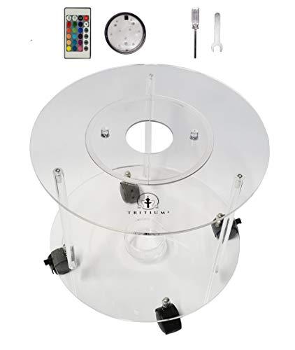 Tritium² Exklusiver Shisha Tisch | Komplettes Set inklusive LED Untersetzer und Montagewerkzeug | Indoor und Outdoor geeignet | Aus hochwertigem Acryl-Plexiglas