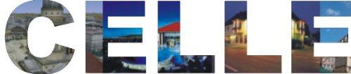 INDIGOS UG - WANDTATTOO / Wandsticker / Wandaufkleber / Aufkleber farbige Wandschrift Städtename Celle mit Sehenswürdigkeiten 180 x 38 cm Länge