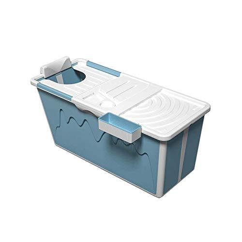 SYN-GUGAI Bañera Plegable para Adultos, bañera portátil no Inflable de 105 cm - Bañera Plegable de PVC/SPA, bañera Plegable de plástico Grueso Independiente para el hogar para Adultos,A