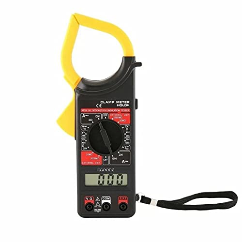 Digital Clamp Multimeter (AC-DC) Auto Ranging A Current Voltage Measurement Device, Ammeter Tong Tester with Accuracy Clamp meter, Fuse and Diode Protection with Carry Case (Black)