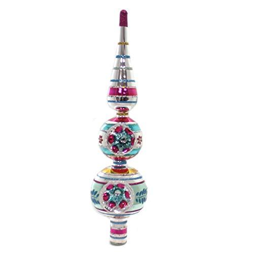 Shiny Brite Vintage Celebration Finial Glass Tree Topper 4027650
