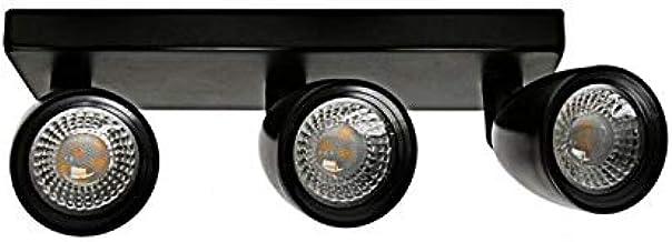 Spot Led 3 Focos Direct Mr16 12w Preto Taschibra 15090227