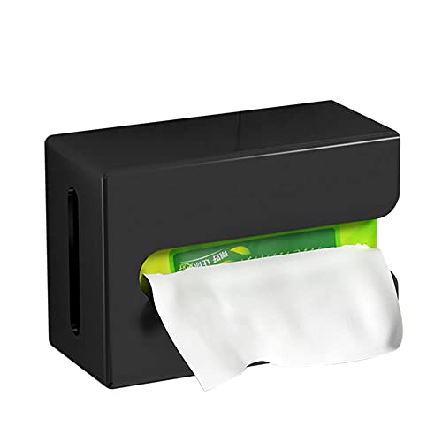 portarollos Papel higienico Negro portarrollos baño Adhesivo Soporte Papel higienico de Acero Inoxidable Pared sin Taladro para el baño de la Cocina-Negro