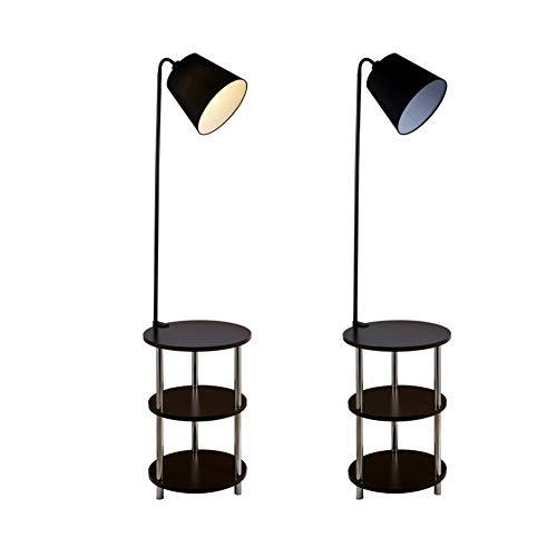 L-yxing-alto brillo Nórdico de madera sustancial moderno 220V 360 grados Ocio giratorio de ocio pequeño lámpara de pie Lámpara de pie LED mesa de café Surviving Room Habitación Lámpara de villa No las