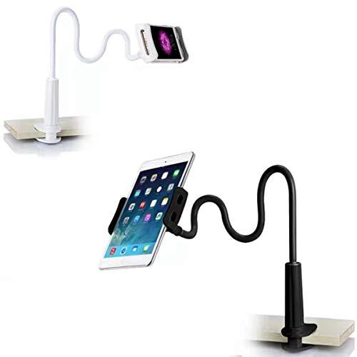 Handyhalter, Schwanenhals Handy Halterung - Flexible Lang Arm Handy Ständer für iPhone 12 Mini, 12 Pro Max, 11 Pro XS Max X 8 7 6S, Samsung S10 S9 S8, 4-10,5 Zoll Smartphone -Schwarz