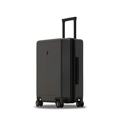 LEVEL8 Valigia Hardside PC Matte Hard Shell Bagagli per trasporto e check-in con TSA Lock, Ruote Spinner, Verde oliva (verde) - LP-8861M-07T00