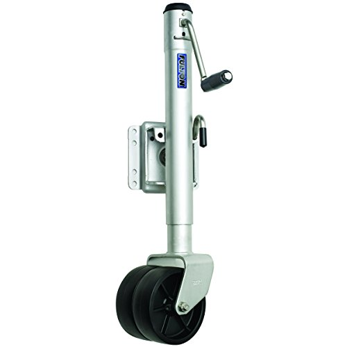Fulton XPD15L0101 Swivel Trailer Tongue Jack, Dual Wheel - 1500 Lbs. Capacity, Steel