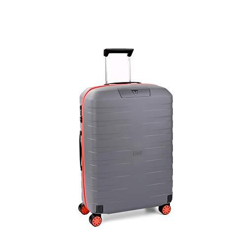 Roncato Maleta Mediana M Rigida Box Young - cm. 69 x 46 x 26 Capacidad 80 L, Ligero, Organización Interna, Cierre TSA,