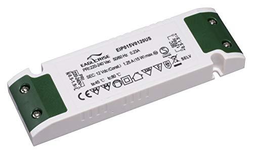 HuaTec Eaglerise LED Trafo 12V 15W Ultra Slim Flach für LED Streifen Möbeleinbau Konstantspannung LED Netzteil Driver Treiber Transformator super thin