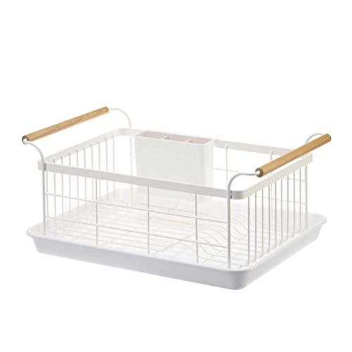 LBYMYB Escurridor, platos de cocina, palillos, cubiertos y cubiertos en seco, estante de almacenamiento de cocina (tamaño: 27,3 x 11,5 x 35 cm)