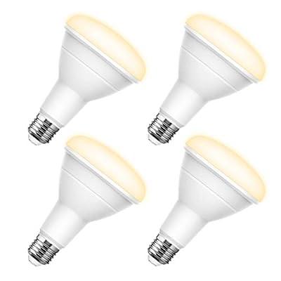 LOHAS BR30 LED Bulbs 100 Watt Equivalent, 13 Watt Soft White 3000K Flood Light Bulb with E26 Medium Base for Downlight Recessed Can Use, 1100 Lumen, Not Dimmable, 4 Pack