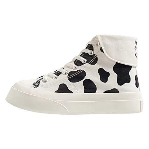 Zapatos Casuales para Mujer cómodos Ligeros con Cordones de Lona Zapatillas de Lona con Plataforma para Mujer Zapatos Deportivos Antideslizantes para Caminar
