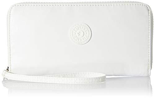 Kipling Imali, Carteras para Mujer, Blanco (White Metallic), 19x10x1 cm