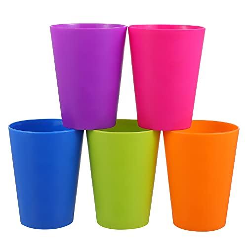 TOYMYTOY プラスチックコップ コップ カップ 耐熱 プラスチック プラカップ 200ml マルチカラー色 飲みカップ 再利用可能 耐熱プラコップ 幼稚園 保育園 ランダムカラー 15ピース