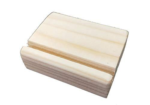 木製カードスタンド 幅3.8�p長さ5�p厚さ1.9cm溝幅4mm溝斜め 10本入り 結婚式の二次会でのメッセージカード立てや、写真、POP用