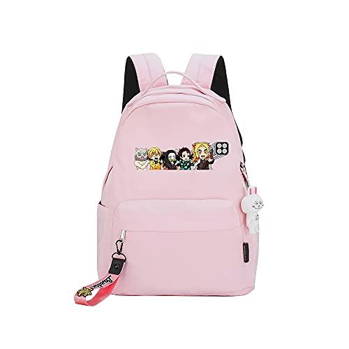ZZGOO-LL Demon Slayer: Kimetsu no Yaiba Kamado Tanjirou/Nezuko Anime Laptop Backpack Bag Travel Laptop Daypacks Bolso Ligero
