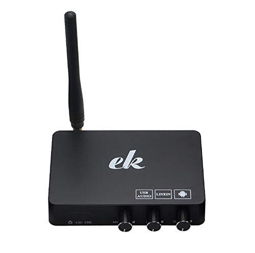 Luoshan Home TV Network Karaoke Equipo for Cantar Set Tarjeta de Sonido Micrófono inalámbrico Computadora Karaoke KTV Set-Top Box