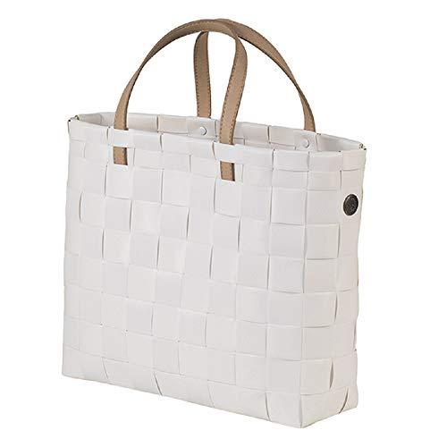 Handed By - Shopper, Einkaufstasche, Einkaufskorb - Kunststoffgeflecht - Petite - weiß - 27 x 31 x 10 cm