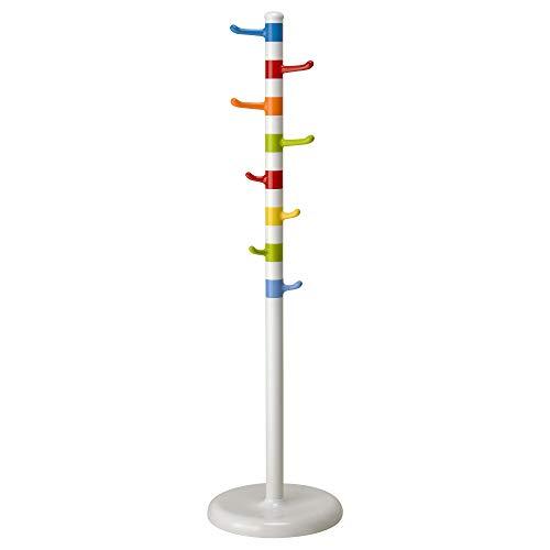 Ikea 201.745.08 KROKIG Garderobenhalter, weiß, bunt, 128 cm, Nicht Angegeben