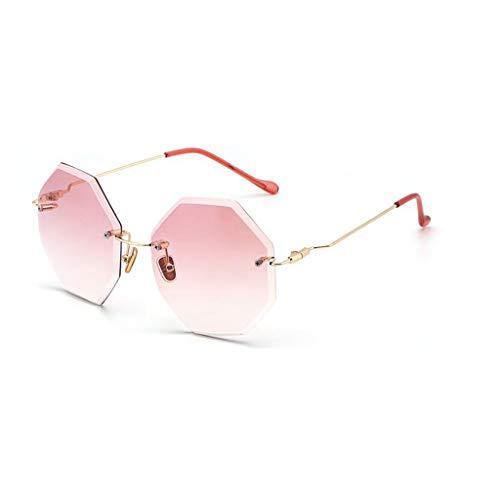 YIWU Brillen Sommer Neue Sonnenbrille Damen achteckige Sonnenbrille Brillen & Zubehör