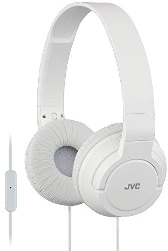 headphones ses JVC HASR185WE White - Foldable Headphones with Microphone