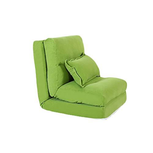 LYQZ Lazy Sofa Single Sofa Bed Foldable Creative Silla Multifuncional para sofá (Color : Green)