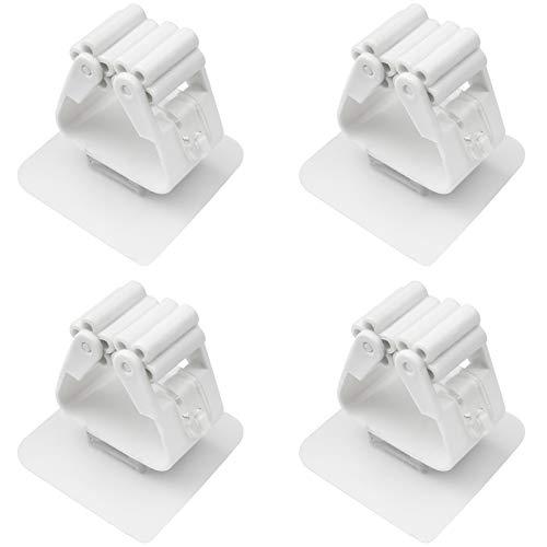 JustYit 6 Stück Gerätehalter Wandhalterung Besenhalterung Wand Ohne Bohren, Universal Besenhalterung für Haushalt Besen Bad Badezimmer Küche Garten
