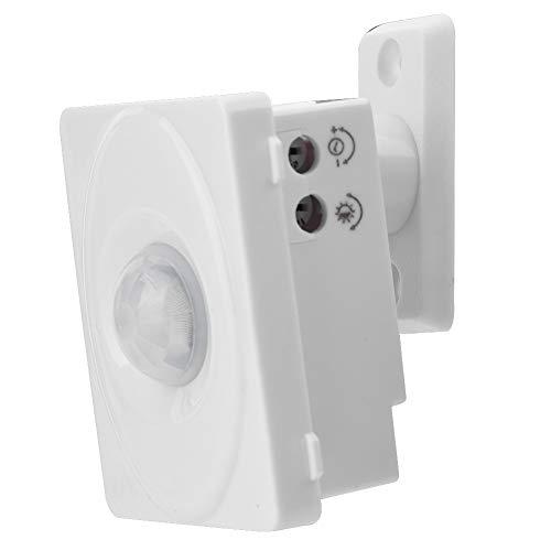 Yctze Interruptor de Sensor de Movimiento infrarrojo automático Interruptor de inducción del Cuerpo Humano Interruptor de Sensor de Infrarrojos inalámbrico para luz LED para pasillos, baños,