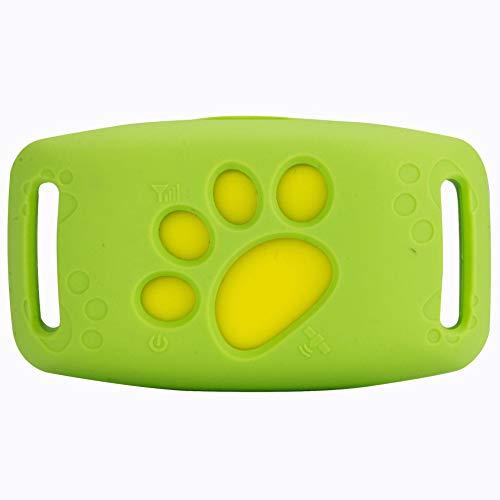 FEIYI Localizador de seguimiento GSM GPRS para pesca y caza, mini rastreador GPS con luz impermeable collar para mascotas, perros, gatos, ganado y ovejas (color: verde)