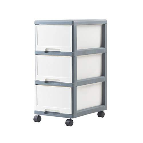 Unbekannt Rutschfester Ablagekorb Schubladentyp Abnehmbarer Büroschrank Kunststoffspind Wohnzimmer Schlafzimmer Weiß DREI Größen XMJ (Size : 33 * 43 * 70cm)