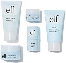 e.l.f. Jet Set Hydration Kit, Travel Friendly Skincare Set, Cleanser, Balm, Moisturizer, Eye Cream & Night Cream