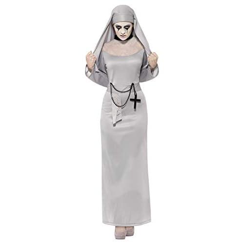 Smiffys Costume Monaca Gotica, Grigio, comprende Tonaca e Copricapo