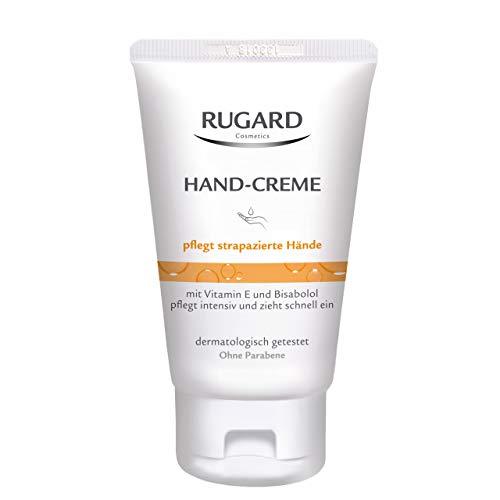 RUGARD Hand-Creme: schnell einziehend, mit Vitamin E, Bisabolol und Sheabutter, pflegt strapazierte Hände, 50ml