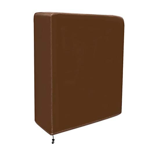 QEES - Funda plegable antipolvo para cama, duradera, gruesa, tela no tejida, funda de almacenamiento exclusiva para hostelería cama plegable fácil de usar JJZ12, café, 99*30*99 CM