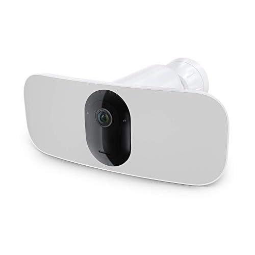 Arlo Pro 3 Floodlight, Telecamera di videosorveglianza WiFi senza fili, Riflettore e Allarme integrati, Visione Notturna a Colori, Video 2K HDR, Audio 2 Vie, Angolo 160 °, Interno ed Esterno, Bianco