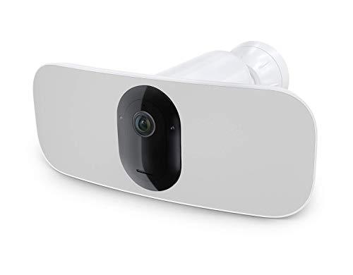 Arlo Pro 3 Floodlight Camera, Telecamera di Sicurezza Senza Fili, Video 2K HDR, Videocamera per Interni/Esterni, Visione Notturna a Colori, Riflettore, 160 °, Audio 2 Vie, Sirena Integrata, Bianco