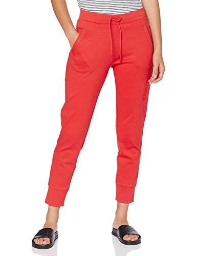 Armani Exchange Double Knit, Side Logo Pantalones de Deporte, Rojo (Coral 1476), 38 (Talla del Fabricante: X-Small) para Mujer