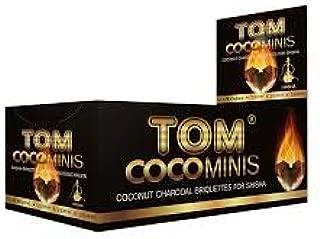 Tomcoco Caja CARBÓN Shisha TOM COCOCHA Premium Gold 12X9 Piezas