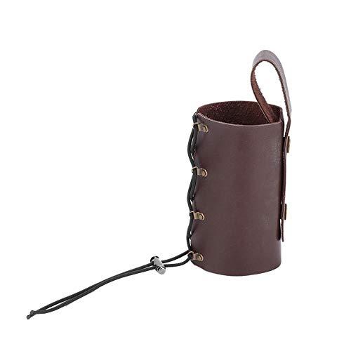 Vobor Motorcycle Bottle Holder Motorcycle Adjustable Cup Carrier, Motorcycle Water Beverage Mount Stand(Brown)