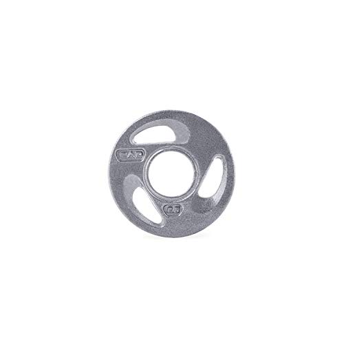 CAP Barbell 2-Inch Olympic Grip Weight Plates, Single, Gray, Various Sizes, 2.5 lb