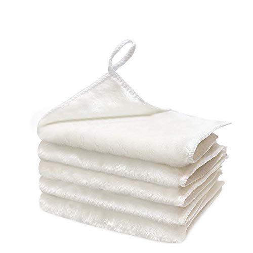 5PCS Thick Dish Rags for Washing Dishes - Ultra Oil Absorbent Dish Towels and Dish Cloths, Link Free Rags for Cleaning, Odorl Free Wood Fiber Cleaning Cloths , Washcloths-Dishcloths for Kitchen