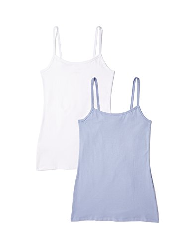 Marca Amazon - IRIS & LILLY Camiseta de Tirantes Body Natural para Mujer, Pack de 2