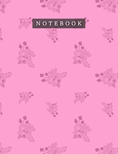 Notebook Rose Bonbon Color Bouquets Floral Pattern Background Cover: 8.5 x 11 inch, 110 Pages, Daily Journal, 21.59 x 27.94 cm, Planning, Teacher, Monthly, A4, Daily, Mom