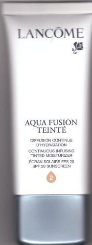 "Lancome Aqua Fusion Teinte SPF 20 Continuous Infusing Tinted Moisturizer ""Sand 2"" Shade Full Size 1.7 Oz."