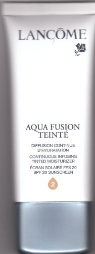 "Lancome Aqua Fusion Teinte SPF 20 Continuous Infusing Tinted Moisturizer ""Sand 2"" Shade Full Size 1.7 Oz."